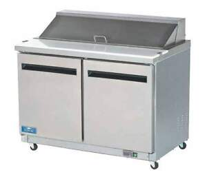 Arctic Air Ast48r 48 Commercial Refrigerated Sandwich Salad Prep Table New