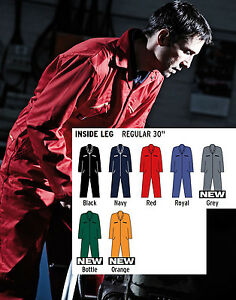Mens Dickies Redhawk Zipped Coverall Overalls Boilersuit Wd001 7 Colours