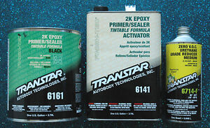 Transtar 2k Epoxy Black Primer Sealer 6161 6141 6714 Gallon Kit