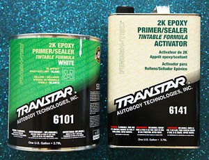 Transtar 6101 6141 2k Epoxy White Primer Sealer 1gal Kit
