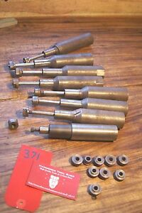Lot Arbor With Knurling Cutter For Lathe Knurl Wheels 1 3 8 Straight Shank 3 8