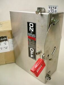 Ge Stainless Thn2261ssdc 30a 600vdc Non fused Dc Rated Safety Switch New
