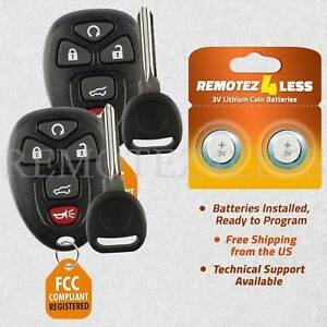 2 New Replacement Keyless Remote Car Fob For 15913415 Circle Plus Keys N Clips