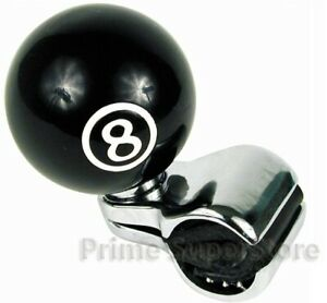 New Black Pool 8 Ball Steering Wheel Spinner Handle Car Truck Suicide Power Knob