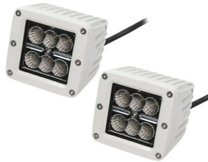 Pair 3 X 3 Square Cree Led 18w Fog Driving Time Lights For Atv Jeep Truck White