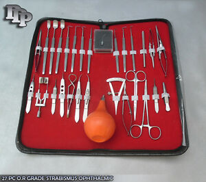 27 Pc O r Grade Strabismus Ophthalmic Eye Micro Surgery Surgical Instruments