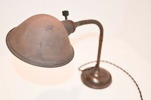 Early 1900s Faries Gooseneck Desk Task Lamp Vintage Industrial Machine Age