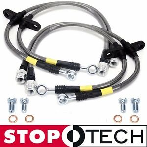 Stoptech Stainless Steel Braided Brake Lines Front Rear 96 00 Honda Civic Ek