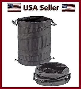 Bell Wastebasket Trash Can Litter Container Car Auto Rv Pop Up Garbage Bin Bag