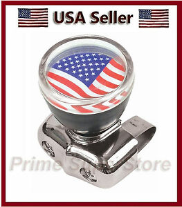 New Usa Flag Car Steering Wheel Spinner Handale Auto Truck Suicide Power Knob