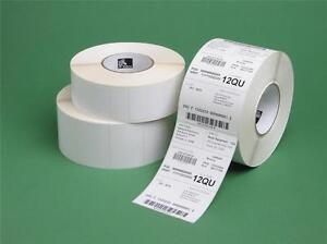 12 Rolls 4 X 1 25 Genuine Zebra Lp2844 Thermal 25 200 Labels 10015349