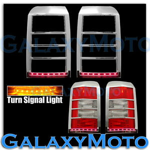 Taillight Brake Turn Signal Led Light Chrome Cover For 07 15 Jeep Patriot