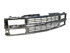 For 1994 2002 Chevy C K Pickup 95 99 Tahoe 94 99 Suburban Grille Chrome
