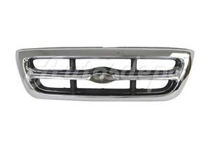 For 1998 2000 Ford Ranger 2wd 4wd Grille Chrome Silver Gray New