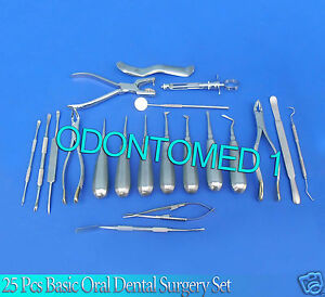 25 Pcs Basic Oral Dental Surgery Surgical Instruments Set Kit Dn 560