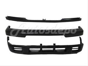 Front Bumper Face Bar Black Valance Grille Filler 3pcs For Nissan 98 00 Frontier