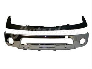 Front Steel Bumper Chrome Up Pad Primed W fog Hole For Nissan 05 08 Frontier