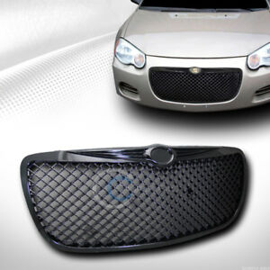 Black Mesh Front Hood Bumper Grill Grille Cover Abs For 04 06 Chrysler Sebring