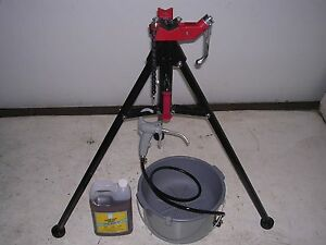 Bucket Oiler Oil Portable Tri stand Reed Rothenberger Collins Pipe Threader