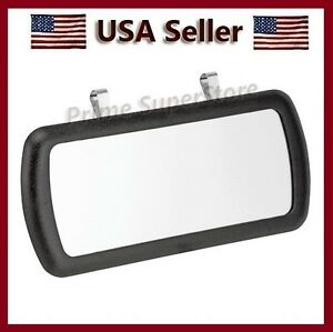 New Large Black Clip On Sun Visor Vanity Mirror For Car Truck Automobile Rv
