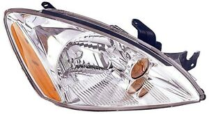 2004 2005 2006 2007 Mitsubishi Lancer Es Ls Passenger Side Chrome Headlight