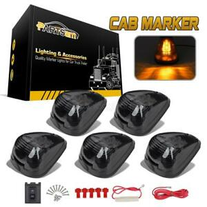 5xsmoke Cab Marker 264143bk Lights Amber Led Assembly For 99 16 Ford F 250 F 350