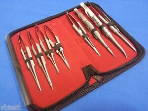 8 O r Grade Castroviejo Micro Surgery Needle Holders Surgical Instruments Kit