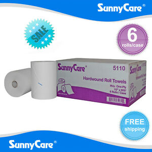 Sunnycare 5110 White 10 Touchless Paper Towel Rolls 800 Roll 6 Case