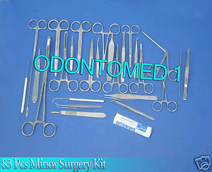 83 Pc Minor Surgery Surgica Veterinary Instruments Student Set Kit