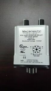 Vwp110d Macromatic Voltage Monitor Relay Voltage Band