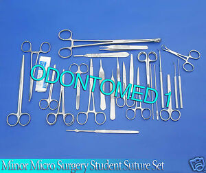 77 Pc Minor Micro Surgery Student Suture Surgical Dissection Instruments Ds 878