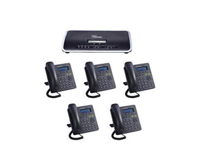 Complete New Voip Small Business Pbx W 5 Sip Phone Sets Smb Telephone System