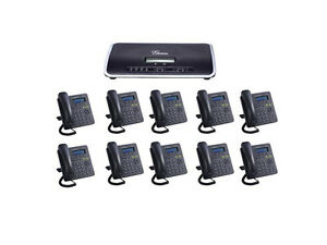 Complete New Voip Small Business Pbx W 10 Sip Phone Sets Smb Telephone System
