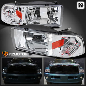 For 1994 2001 Dodge Ram 1500 2500 3500 Led Headlights Head Lamps Left right