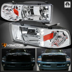 1994 2001 Dodge Ram 1500 2500 3500 Led Headlights Head Lamps Left Right