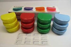 Denture Bath Colors Assorted Ortho Box Pack 12 Free Shipping
