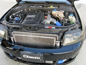 Cxracing Front Mount Intercooler Kit For 02 05 Audi A4 B6 1 8t Turbo Black Hoses