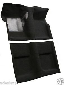 Acc 65 68 Ford Mustang Coupe Black Nylon Loop Molded Carpet Rug