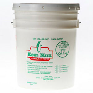 Kool Mist 5 Gallon 77 Concentrated Coolant For Kool Mist System Usa