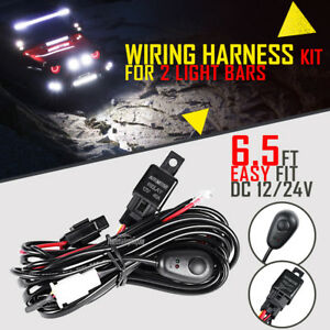 Wiring Harness Kit 24v 40a 12v Switch Relay Harness For Led Work Light Hid Bar