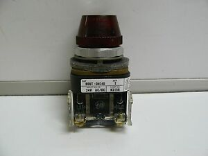 Allen Bradley 800t qh24r Series T Red Illuminated Pilot Light