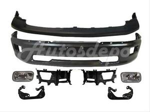 For 2009 2012 Dodge Ram 1500 Front Bumper Grey Upper Fog Light Bracket Kit 7p