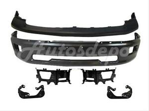 For 2009 2012 Dodge Ram 1500 Front Bumper Grey Upper Fog Lamp Bracket Kit 5pc