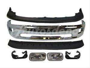 For 2009 2012 Dodge Ram 1500 Front Bumper Upper Air Dam Fog Light Bracket 7pc