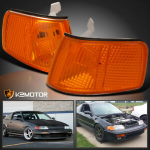 For 1990 1991 Honda Crx Jdm Amber Turn Signal Lamps Corner Lights Replacement
