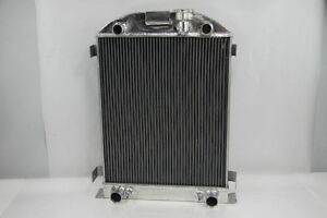 3 Row 4 Pass Full Aluminum Radiator Ford Model A Flathead Engine 1930 1931 30 31