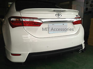 Toyota Corolla Altis Asia 2014 On Abs Led Rear Trunk Lip Spoiler Color Painted