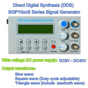 5mhz Dds Function Signal Generator Frequency Meter Square Wave Pulse Test