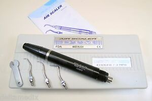 Dental M4 Air Scaler Handpiece Silver 4 Holes M4 With 3 Tips Made In Usa Dtm