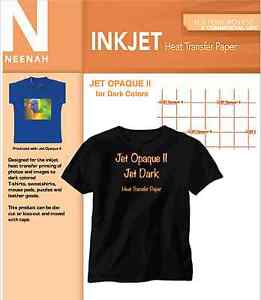 Neenah Inkjet Heat Transfer Paper For Dark Cotton Blends 8 5x11 50 Sheets